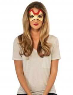 Iron Man™-Augenmaske für Damen rot-goldfarben