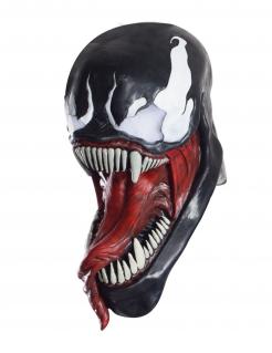 Venom™-Latexmaske für Erwachsene schwarz-weiss-rot