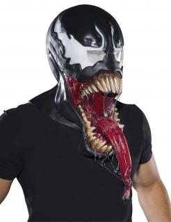 Venom™-Maske Latexmaske Halloween schawarz-rot-weiss