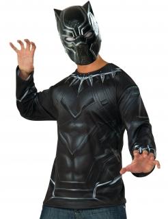 Black Panther™-Oberteil und Maske schwarz