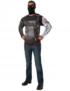 Winter Soldier™-Kostüm für Erwachsene schwarz-grau
