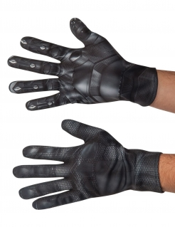 Black Panther™-Handschuhe Kostümzubehör schwarz-grau