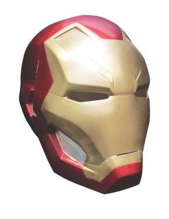 Iron Man™-Vollmaske für Erwachsene rot-goldfarben