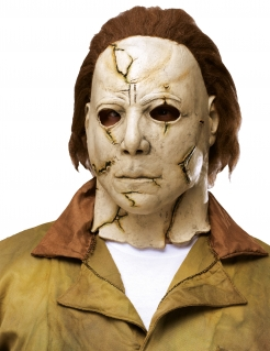 Luxuriöse Michael Myers™ Latexmaske beige-braun