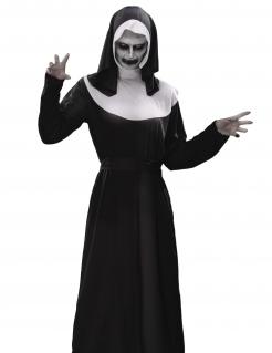 Zombie-Nonne Halloween-Kostümset 8-teilig schwarz-weiss