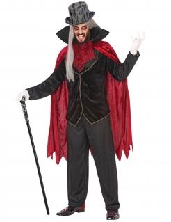 Vampir-Herrenkostüm schwarz-rot