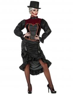 Viktorianisches Vampir-Lady Damenkostüm schwarz-rot
