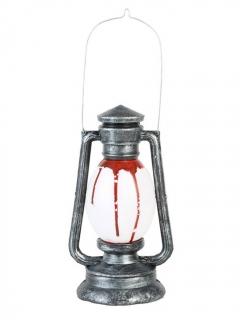 Blutige Öllampe Halloween-Dekoration mit Licht und Ton silber