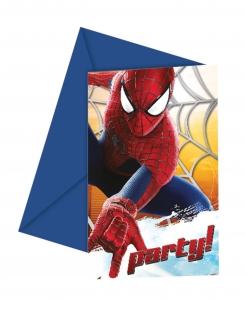 The Amazing Spider-Man™ Einladungen 6 Stück bunt 12 x 12,5 cm