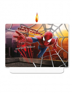 The Amazing Spider-Man 2™ Geburtstagskerze bunt 8 x 3 x 10 cm