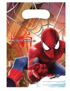 Spider Man™ Partytüten 6 Stück bunt 17 x 23 cm