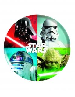 Kunststoff-Teller aus Melamin Star Wars™ bunt 21cm