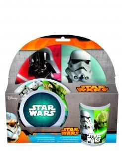Star Wars™-Frühstücksset Lizenzprodukt 3-teilig bunt