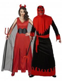 Teufel-Paarkostüm Devil-Paarkostüm für Halloween schwarz-rot