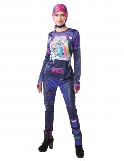 Finsterbomber-Kostüm Fortnite™-Lizenzkostüm für Damen lila