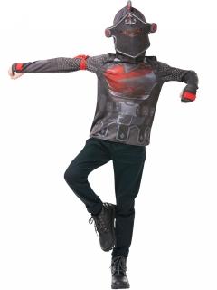 Black Knight Kostüm für Kinder und Jugendliche Fortnite™-Kostüm grau-rot