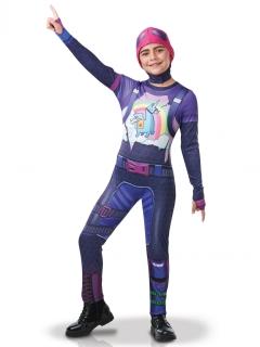Finsterbomber-Kostüm Fortnite™-Lizenzkostüm für Jugendliche lila