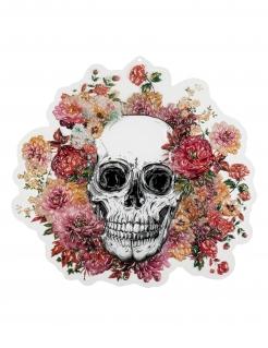 Blumen-Skelett Wanddeko bunt 46 x 50 cm