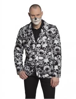 Totenkopf-Anzugsjacke für Herren schwarz-weiss
