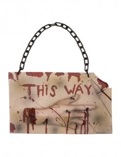 Blutiges Halloween-Türschild braun-rot 19 x 31 cm