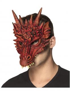 Drachen-Halbmaske für Erwachsene rot