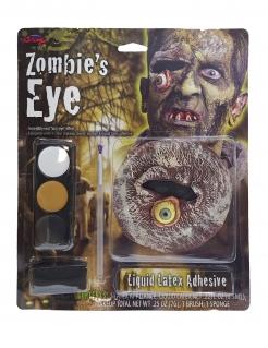 Zombieauge Schminkset Halloween-Schminke braun-grau