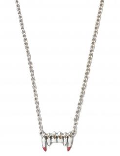 Vampirgebiss-Halskette Kostüm-Accessoire Silber