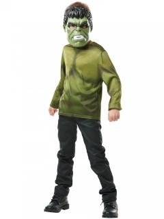 Hulk™-Kinderkostüm mit Maske grün-schwarz-weiss