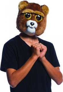 Sir Grows a lot flexible Horrormaske Fiesty Pets™ für Kinder braun-weiss-schwarz