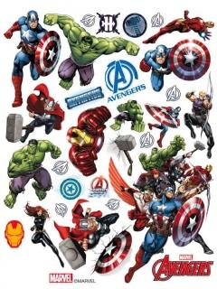 Avengers™ Fensteraufkleber bunt 30 x 20 cm