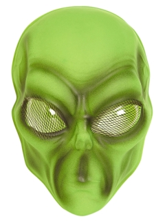 Alienmaske für Erwachsene grün