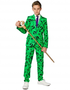 Mr. Riddler™ Kinderkostüm Opposuits grün-violett