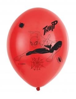 Spider-Man™ Luftballons 6 Stück schwarz-rot 27,5 cm