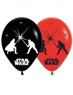 Star Wars™ LED-Ballons aus Latex 5 Stück schwarz-weiss-rot 28 cm