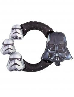 Star Wars™-Aluminiumballon schwarz-grau 53x73 cm