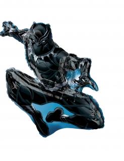 Black Panther™-Aluminiumballon schwarz-blau 81x81cm