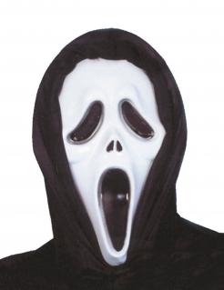 Serienkiller-Maske für Erwachsene schwarz-weiss