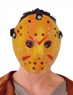 Hockey-Maske für Halloween weiss-rot