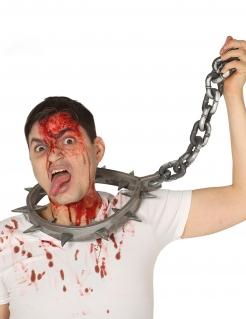 Folterkette mit Spitzen grau