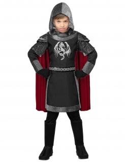Ritter-Kostüm Mittelalter-Kostüm für Kinder grau-schwarz-rot