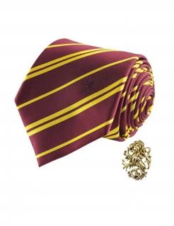 Gryffindor-Krawatte mit Anstecknadel rot-gelb