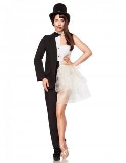 Unglaubliches Mann-Frau-Kostüm für Damen Deluxekostüm schwarz-weiss