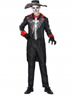 Dia de los Muertos Kostüm für Herren bunt
