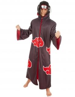 Akatsuki-Mantel Naruto™ mit Stirnband braun-rot