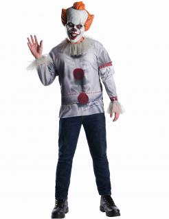 Es™ Horrorfilm-Kostüm für Erwachsene grau-weiss-rot