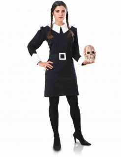 Wednesday Addams™ Damenkostüm schwarz-weiss