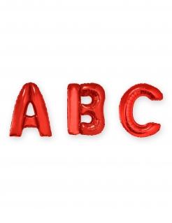 Buchstaben-Ballon Folienballon rot 1 m