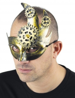Steampunk-Maske für Herren gold-silber