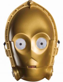 Klassische C3PO-Lizenzmaske für Erwachsene goldfarben