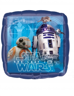Star-Wars™-Ballon R2-D2™ BB-8™ 43 x 43 cm blau